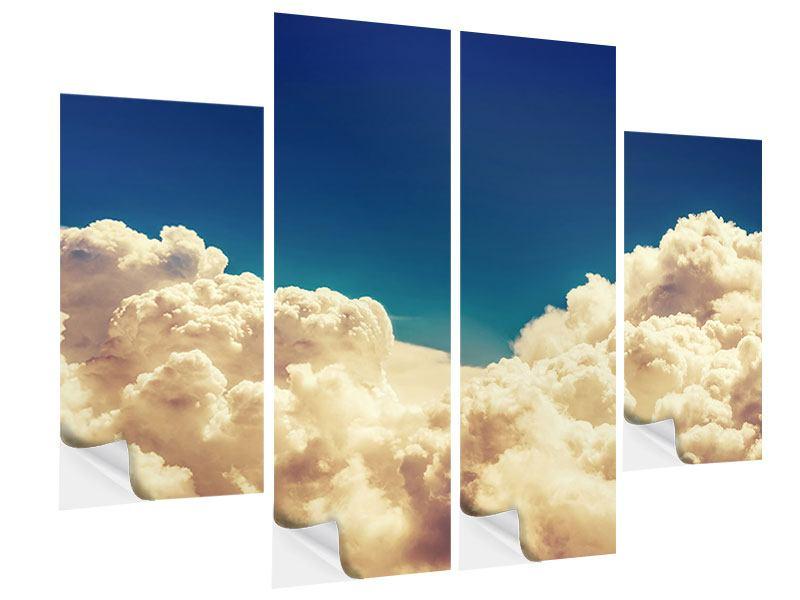 Klebeposter 4-teilig Himmelswolken