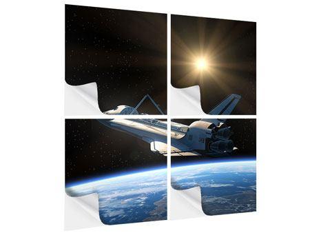 Klebeposter 4-teilig Das Raumschiff