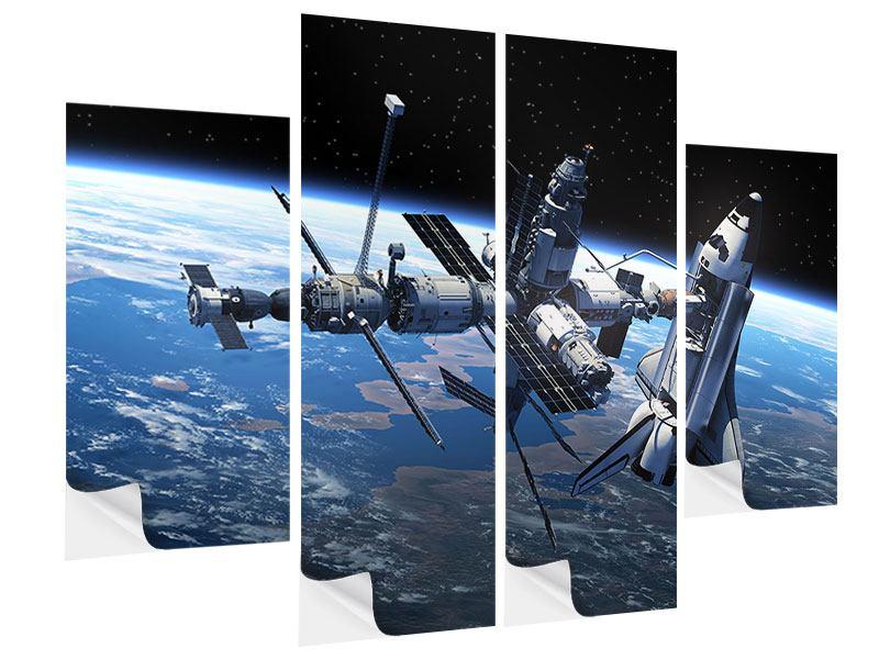 Klebeposter 4-teilig Satellit