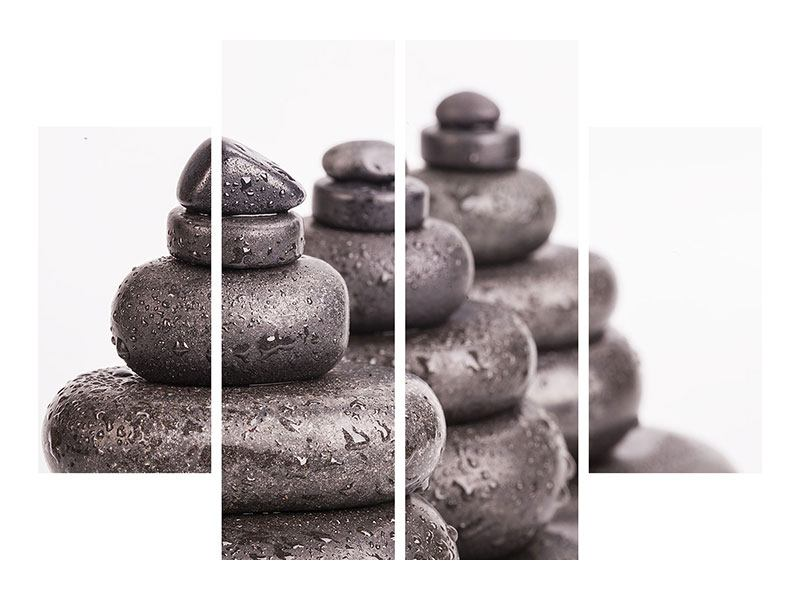Klebeposter 4-teilig Die Kraft der Steine