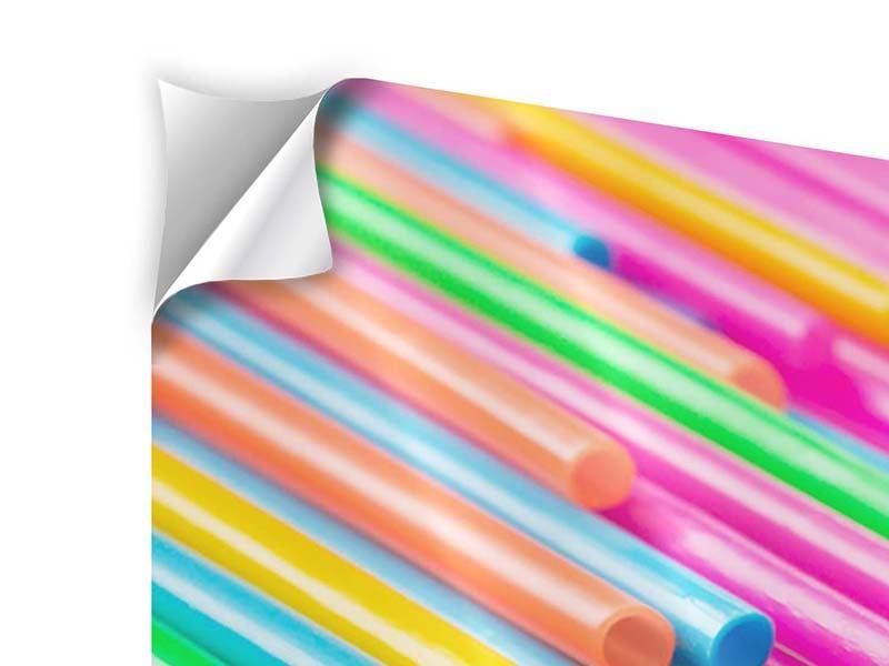 Klebeposter 4-teilig Pop Art