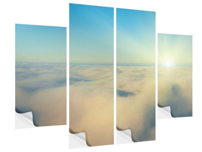 Klebeposter 4-teilig Dämmerung über den Wolken
