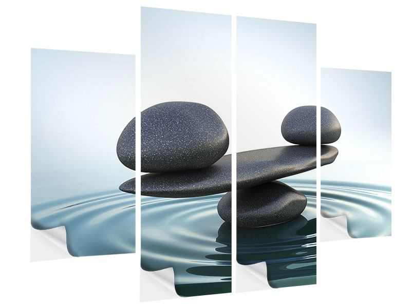 Klebeposter 4-teilig Steinbalance