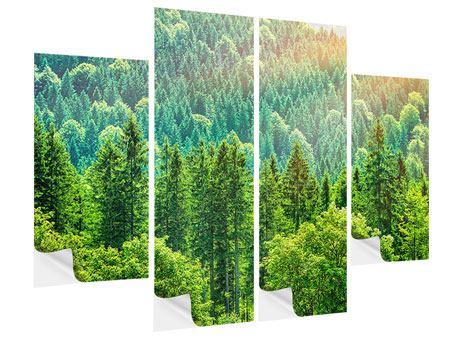 Klebeposter 4-teilig Der Waldhügel