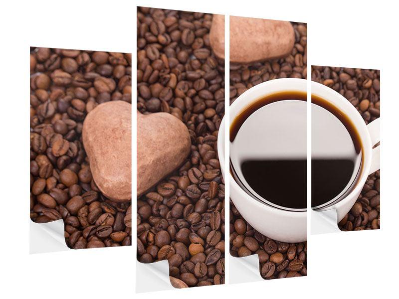 Klebeposter 4-teilig Pausenkaffee