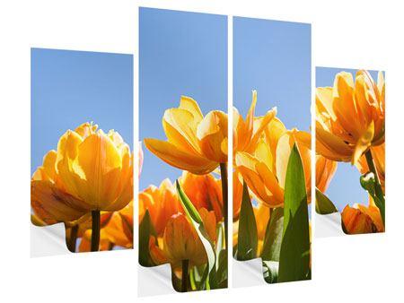 Klebeposter 4-teilig Märchenhafte Tulpen