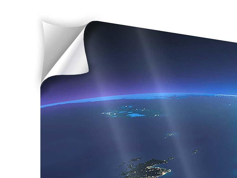 Klebeposter 4-teilig Close Up Planet Erde