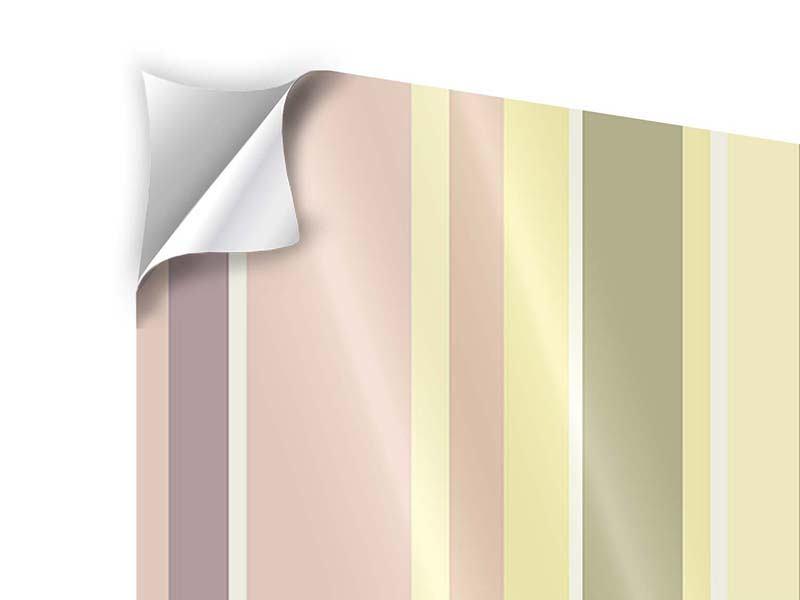 Klebeposter 4-teilig Längstreifen