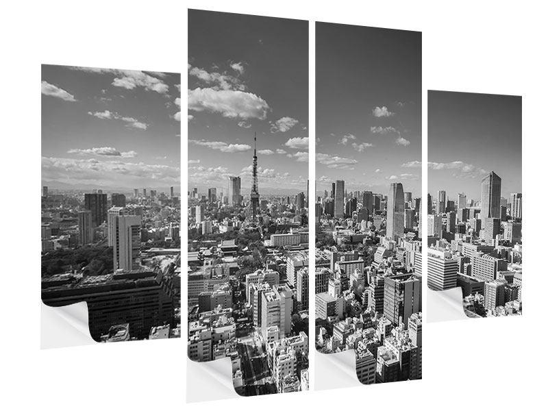 Klebeposter 4-teilig Tokio