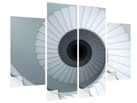 Klebeposter 4-teilig 3D Wendeltreppe