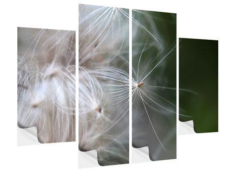 Klebeposter 4-teilig Close up Blütenfasern