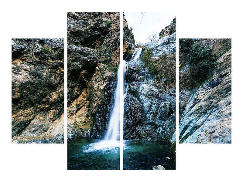 Klebeposter 4-teilig Bewegtes Wasser