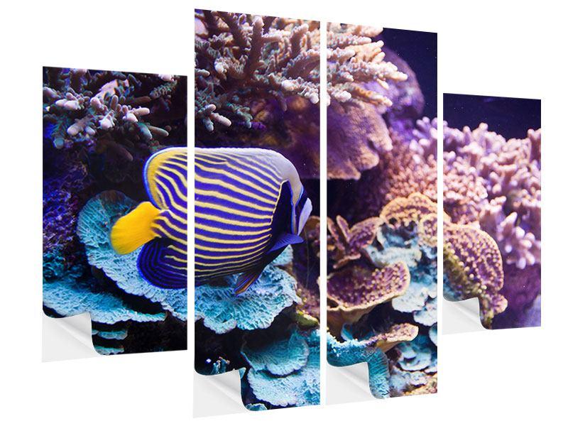 Klebeposter 4-teilig Faszination Unterwasser