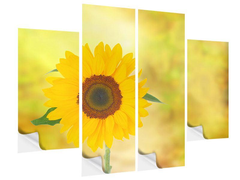 Klebeposter 4-teilig Die Sonnenblume
