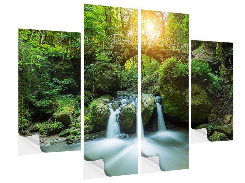 Klebeposter 4-teilig Wasserspiegelungen