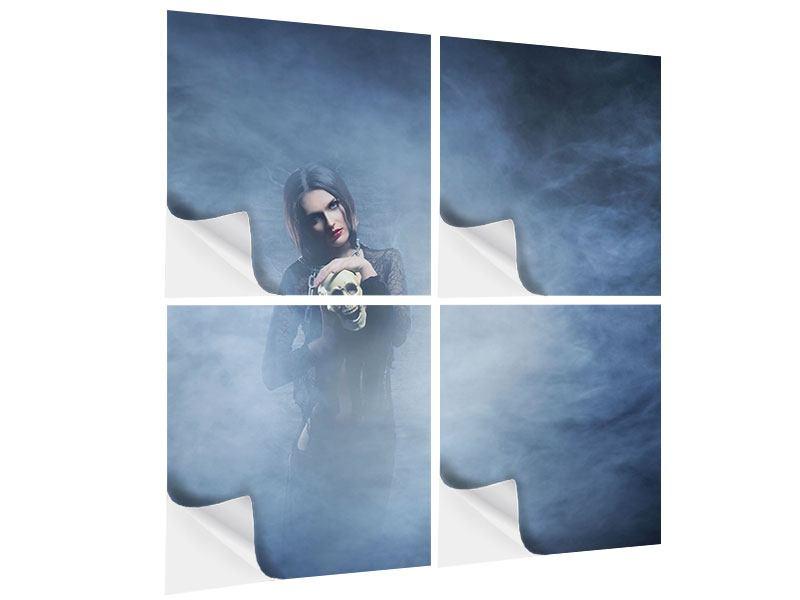 Klebeposter 4-teilig Das Geheimnis des Skulls