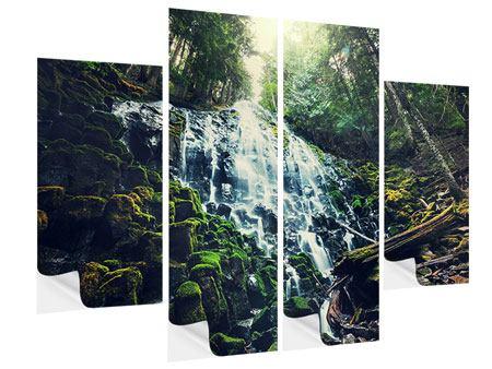 Klebeposter 4-teilig Feng Shui & Wasserfall