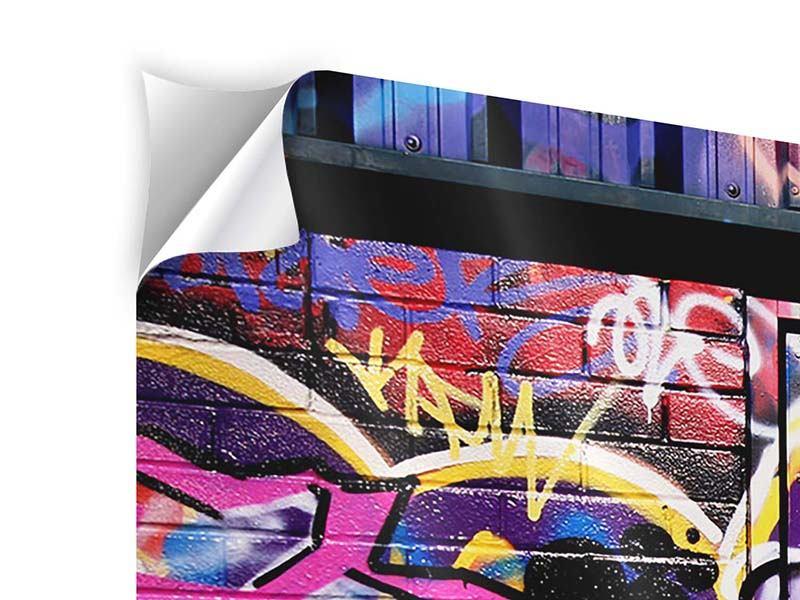 Klebeposter 4-teilig Graffiti Kunst