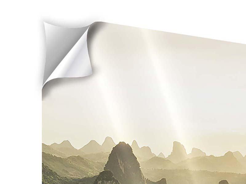 Klebeposter 4-teilig Die Berge von Xingping