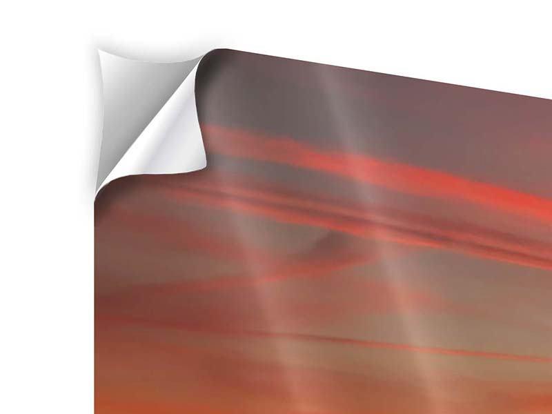 Klebeposter 4-teilig Der Sonnenuntergang