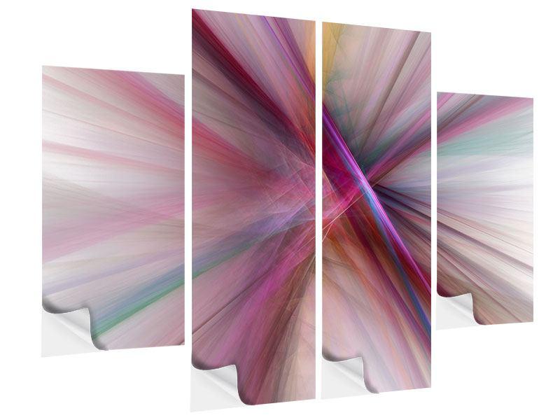 Klebeposter 4-teilig Abstraktes Lichterleuchten