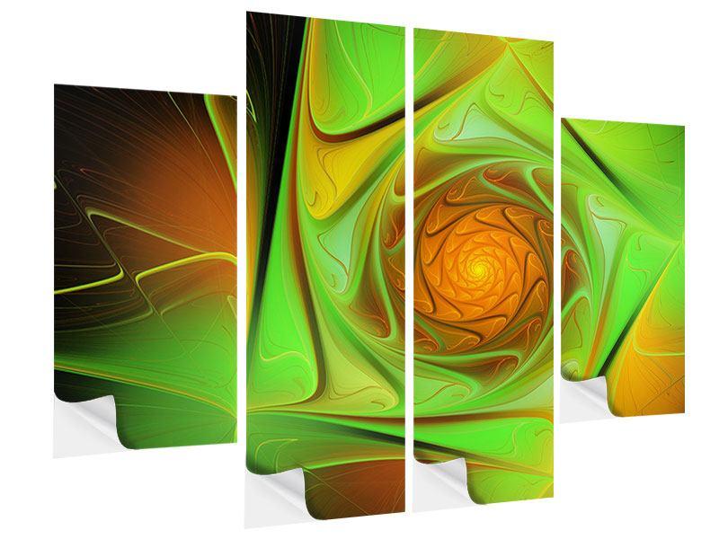 Klebeposter 4-teilig Abstraktionen