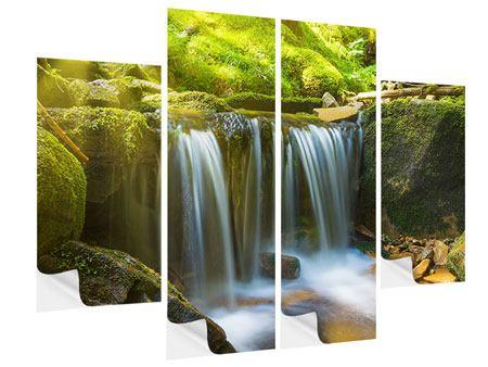 Klebeposter 4-teilig Schönheit des fallenden Wassers