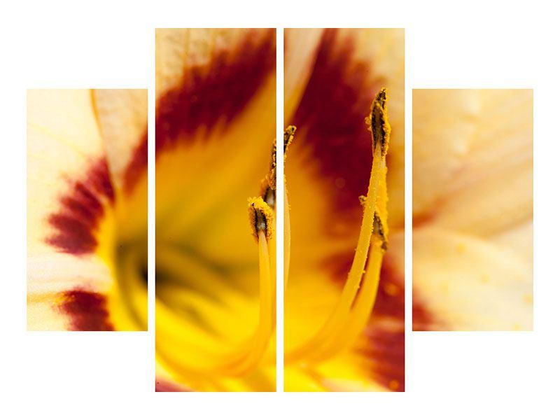 Klebeposter 4-teilig Riesenlilie