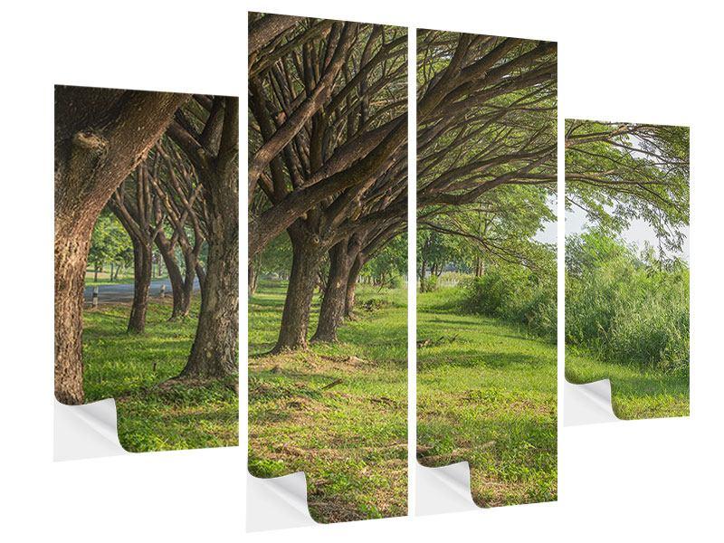 Klebeposter 4-teilig Alter Baumbestand