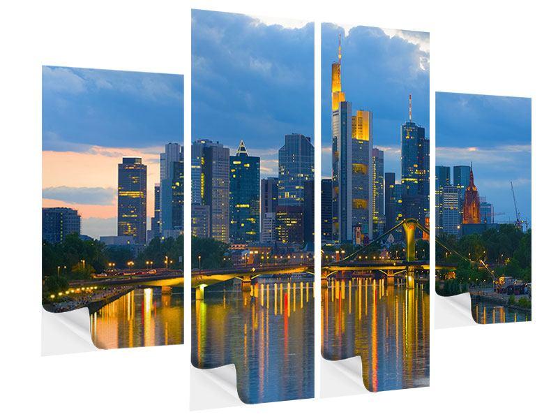 Klebeposter 4-teilig Skyline Frankfurt am Main