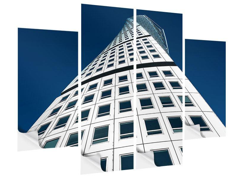 Klebeposter 4-teilig Meisterstück Wolkenkratzer
