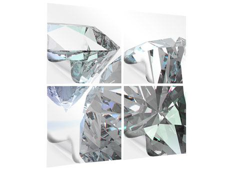 Klebeposter 4-teilig XXL Diamant