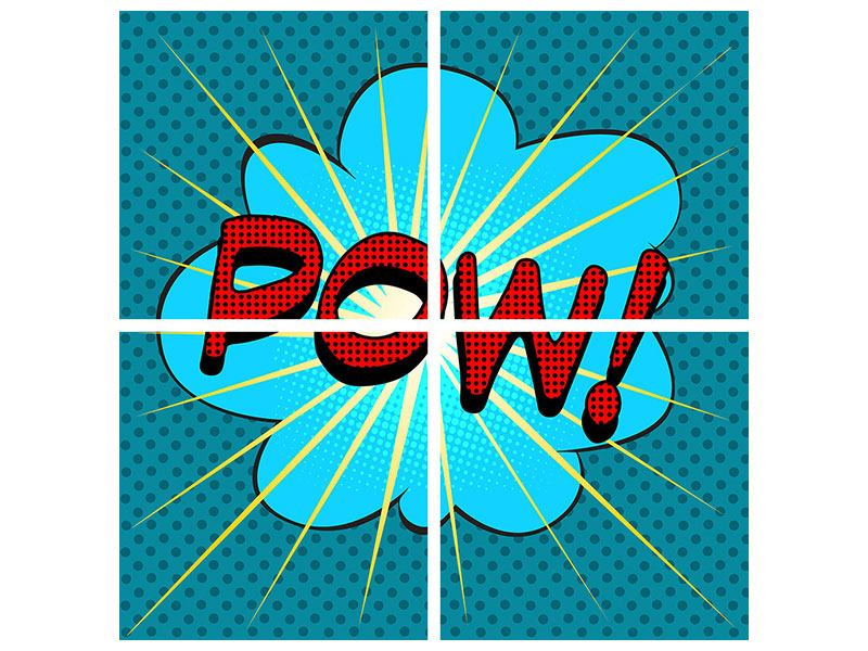 Klebeposter 4-teilig Pop Art Pow
