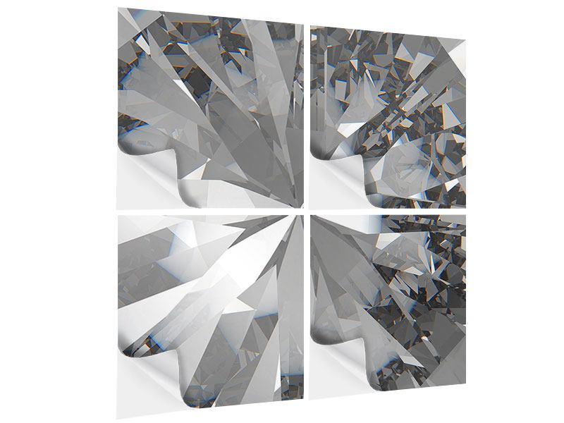Klebeposter 4-teilig Riesendiamant
