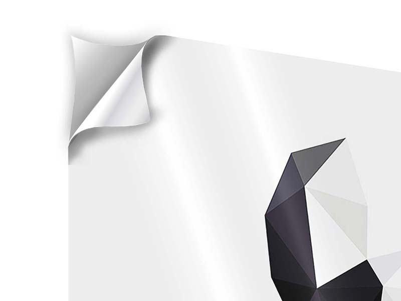 Klebeposter 4-teilig Origami Bulldogge