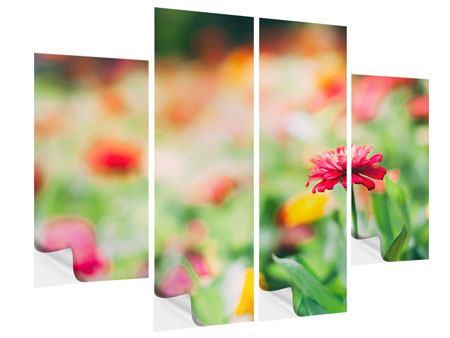 Klebeposter 4-teilig Im Blumengarten
