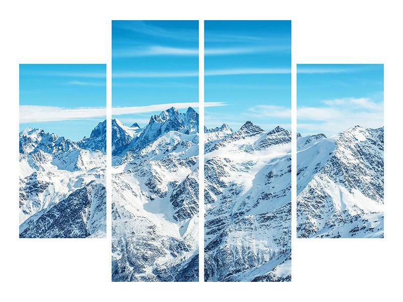 Klebeposter 4-teilig Alpenpanorama