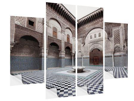 Klebeposter 4-teilig Orientalischer Hinterhof
