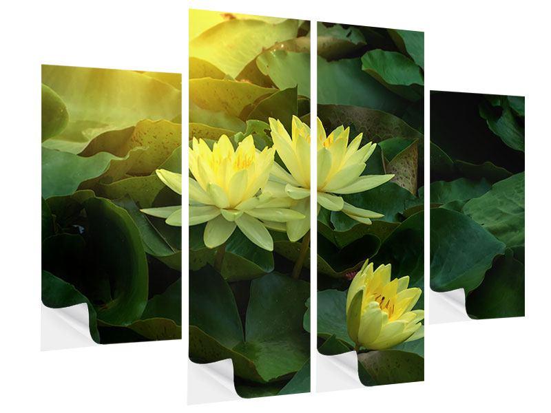 Klebeposter 4-teilig Wilde Lotus