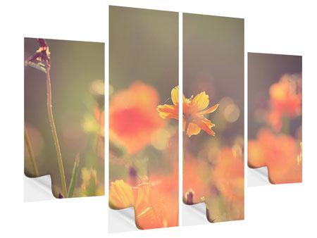 Klebeposter 4-teilig Blütenpracht