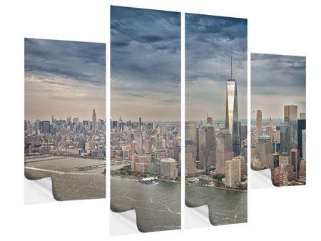 Klebeposter 4-teilig Skyline Manhattan