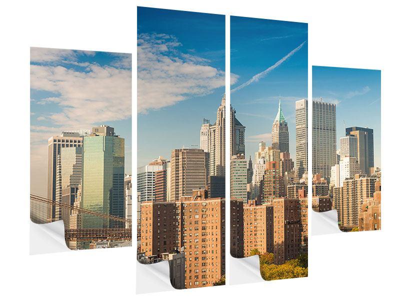 Klebeposter 4-teilig Skyline New York