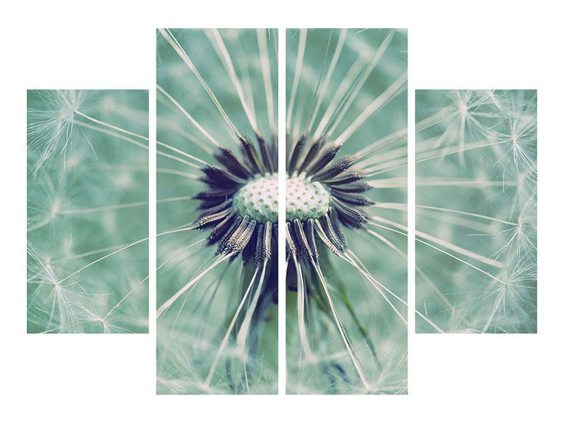Klebeposter 4-teilig Close Up Pusteblume