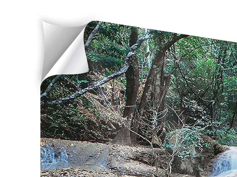 Klebeposter 4-teilig Ein Wasserfall