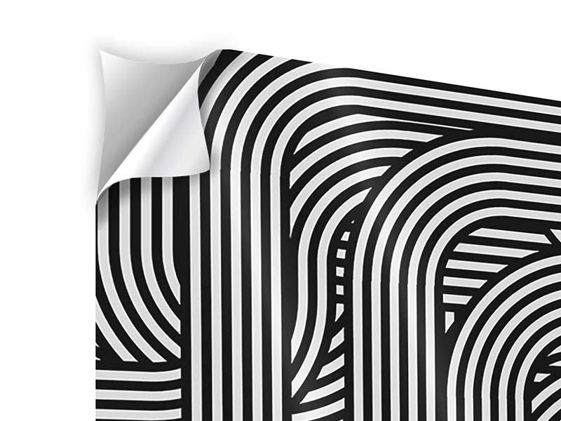 Klebeposter 4-teilig 3D Black & White