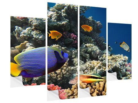 Klebeposter 4-teilig Das Aquarium