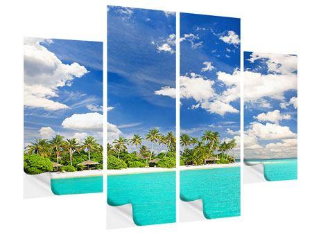 Klebeposter 4-teilig Meine Insel