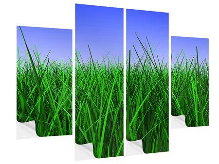 Klebeposter 4-teilig Im Gras