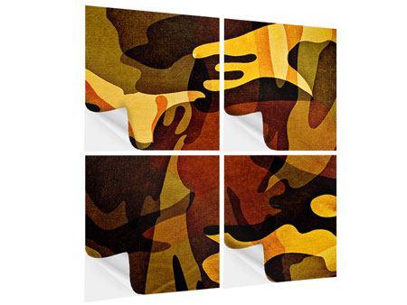Klebeposter 4-teilig Military