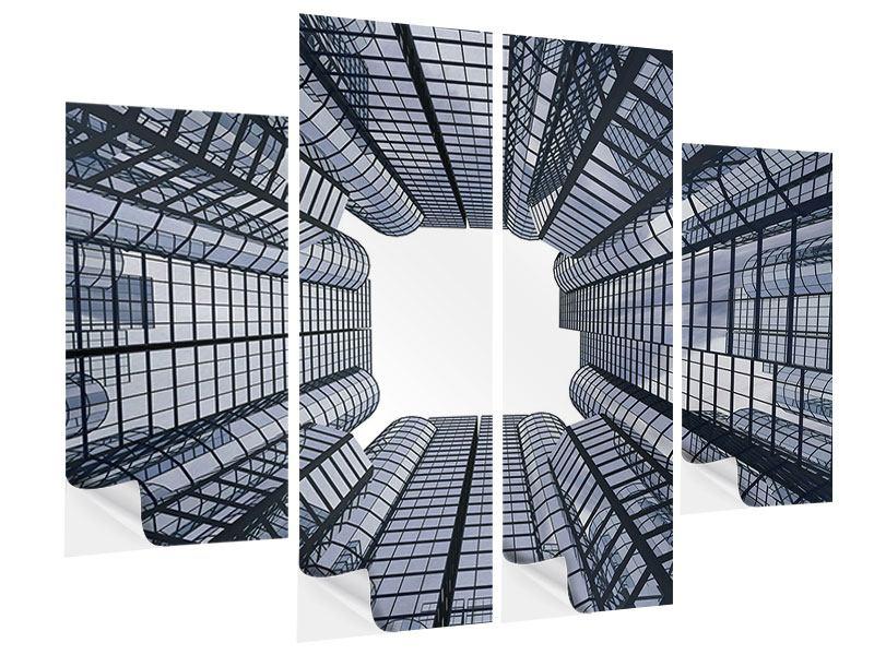 Klebeposter 4-teilig Besondere Perspektive